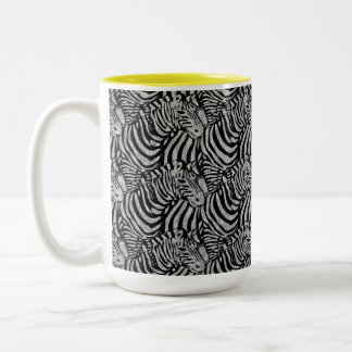 Zebra-Druck Zweifarbige Tasse