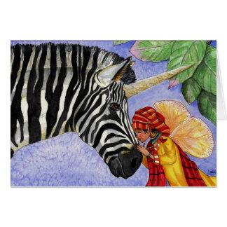 Zebra-Einhorn und ZiZi Feekarte Karte
