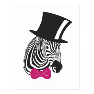 Zebra-elegantes einzigartiges postkarte