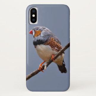 Zebra-Fink iPhone X Fall iPhone X Hülle