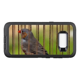 Zebra-Fink-Vogel im Käfig OtterBox Defender Samsung Galaxy S8+ Hülle