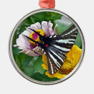 Zebra-Frack+Japanischer Käfer Silbernes Ornament