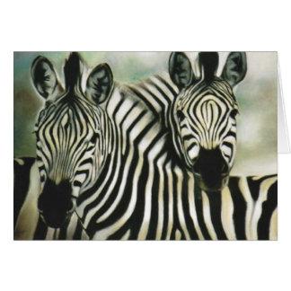 """Zebra-Freunde "" Karte"