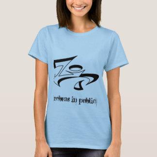 Zebra-Gang-Damen-Baby - Puppe (angepasst) T-Shirt