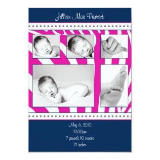 Zebra-Geburts-Mitteilung 12,7 X 17,8 Cm Einladungskarte