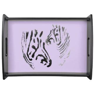 Zebra geht Tier-Kunst voran Tablett