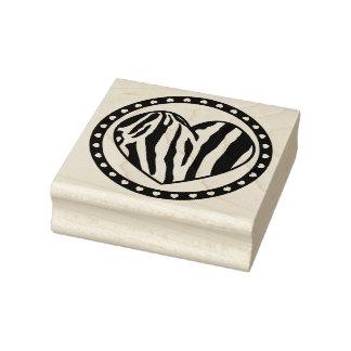 Zebra-gestreiftes Herz Gummistempel
