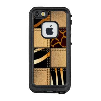 Zebra-Giraffen-Tierdruck-Jeans-Collage LifeProof FRÄ' iPhone SE/5/5s Hülle