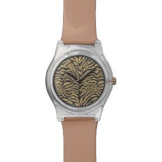 Zebra-Glitzer-Armbanduhr Uhr