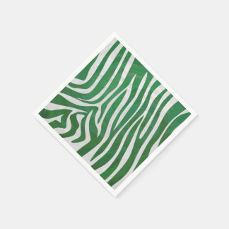 Zebra-grüner und weißer Druck Papierserviette