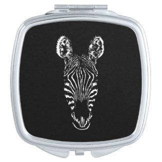 Zebra-Hauptschwarzes Schminkspiegel