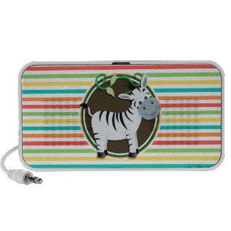 Zebra Helle Regenbogen-Streifen Notebook Speaker