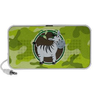 Zebra hellgrüne Camouflage Tarnung Laptop Speaker
