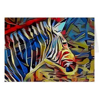 Zebra in Afrika Karte