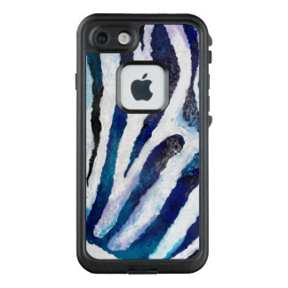 Zebra in aquamarinem (Kunst Kimberlys Turnbull) LifeProof FRÄ' iPhone 8/7 Hülle