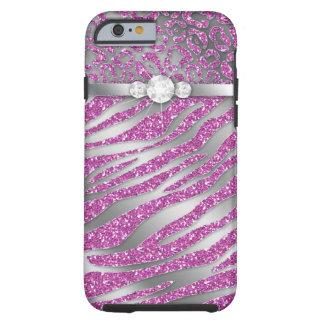 Zebra iPhone 6 starkes Schmuck-Glitter-Rosa Tough iPhone 6 Hülle