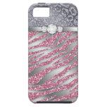 Zebra iPhone Case-Mate-starker Schmuck-Glitter PS iPhone 5 Etuis