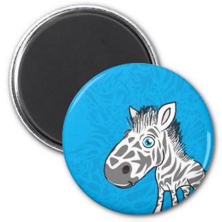 Zebra ist niedlich runder magnet 5,7 cm