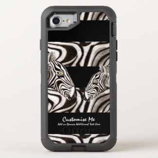 Zebra-Kopf OtterBox Defender iPhone 8/7 Hülle