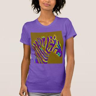 Zebra-Kunst-lila Glühen T-Shirt