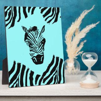 Zebra-Kunst-Plakette Fotoplatte