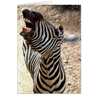 Zebra-Lächeln Notecard