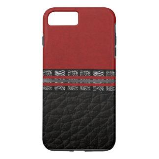 Zebra-Leopard-Rot-Seide iPhone 8 Plus/7 Plus Hülle
