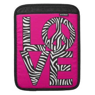 Zebra-Liebe-Frieden iPad Sleeve