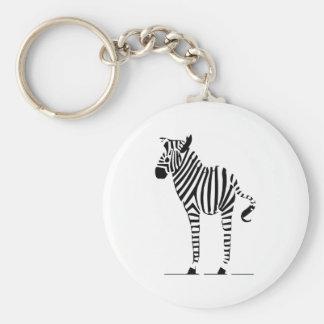 Zebra-Liebhaber-Geschenke Standard Runder Schlüsselanhänger