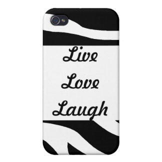 Zebra-LiveLiebe-Lachen iPhone 4/4S Hüllen