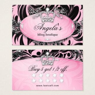 Zebra-Loyalitäts-Karten-Schmuck-Kronen-Rosa Visitenkarte