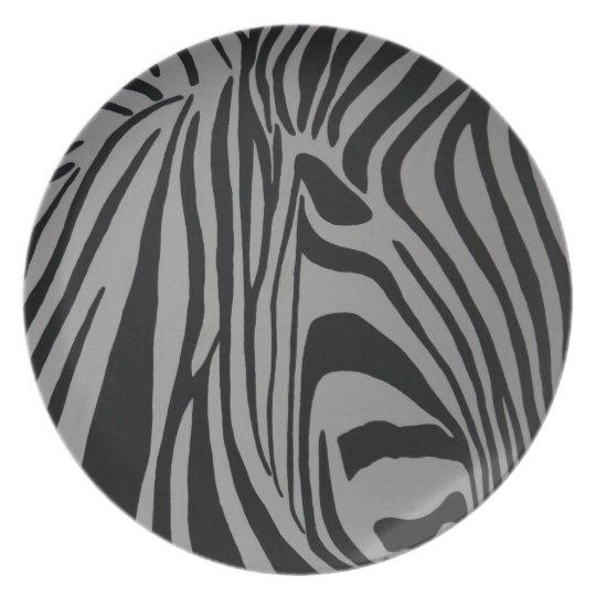 zebra melaminteller
