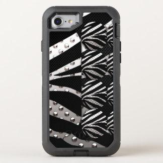 Zebra-Metalldruck OtterBox Defender iPhone 8/7 Hülle