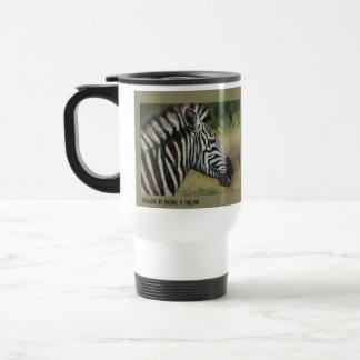 Zebra-Metallreise-Tasse Reisebecher
