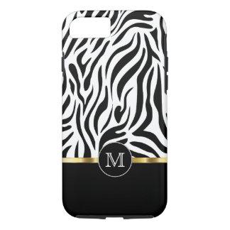 Zebra-Monogramm-Art iPhone 8/7 Hülle