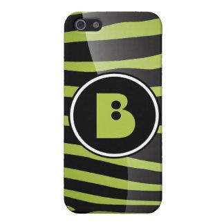 Zebra-Monogramm-Buchstabe B I iPhone 5 Schutzhülle