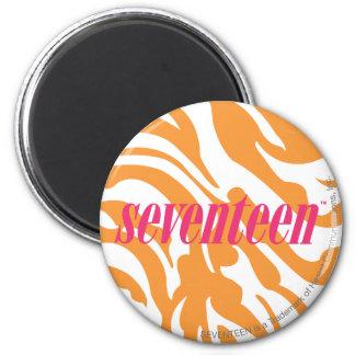Zebra-Orange Runder Magnet 5,7 Cm