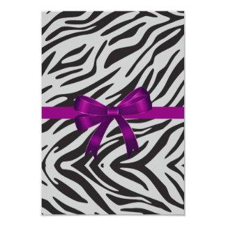 Zebra-Party Einladungs-Junggeselinnen-Abschied 8,9 X 12,7 Cm Einladungskarte