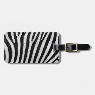 Zebra-Pelz-abstrakter Entwurf, Reise-Gepäck-Umbau Gepäckanhänger