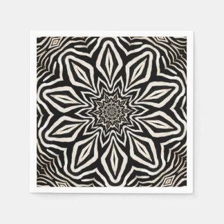 Zebra-Pelz-Kaleidoskop abstrakt Serviette