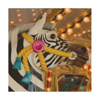 Zebra-Pferdec$fröhlich-c$gehen-runde Holzdruck
