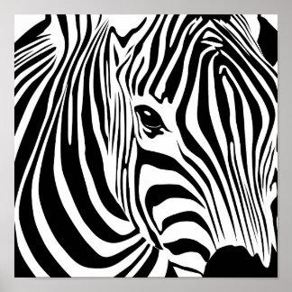 Zebra-Plakat Poster