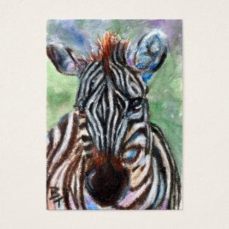 Zebra-Porträt ACEO ArtCard Visitenkarte