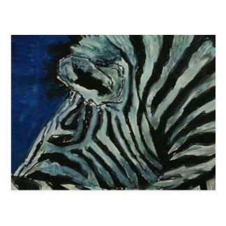 Zebra Postkarte