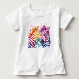 Zebra-Regenbogen-Baby-Geschenke Baby Strampler