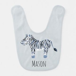 Zebra-Safari des niedlichen Jungen blaue der Babylätzchen