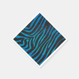 Zebra-schwarze und Blaupause Papierserviette