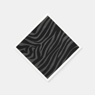 Zebra-schwarzer und grauer Druck Papierservietten