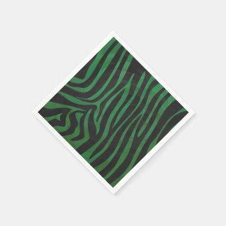 Zebra-schwarzer und grüner Druck Papierserviette