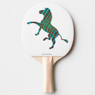 Zebra-schwarzer und grüner Druck Tischtennis Schläger
